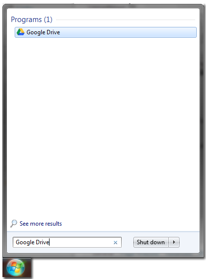 Start Menu Search box