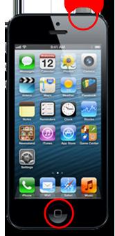 screenshot on iPhone