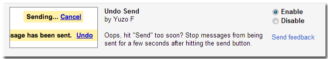 Enable Undo send