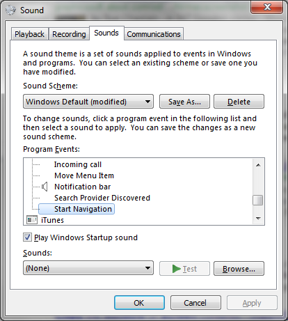 Win7 Sound window
