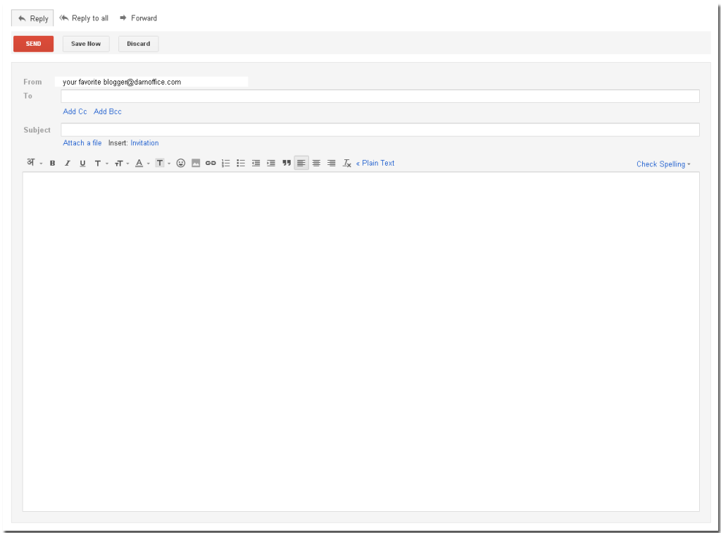 new Gmail window