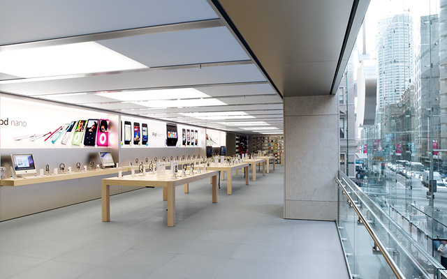 inside Apple store George Street Sydney