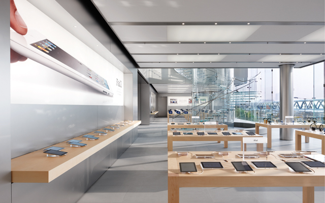inside Apple store IFC Mall Hon Kong